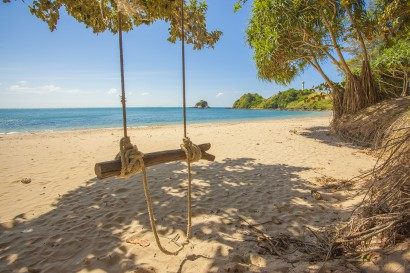 Tropical paradise with rope swing relax zone Thailand Krabi Lanta